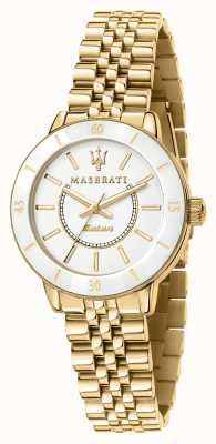 Maserati Vergoldete Nachfolgeuhr für Damen R8853145502