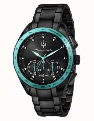Maserati Traguardo Aqua Edition schwarz beschichtete Uhr R8873644002