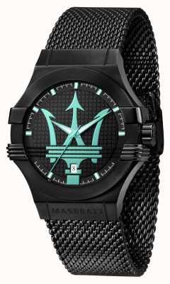 Maserati Potenza Aqua Edition schwarzes Mesh-Armband R8853144002