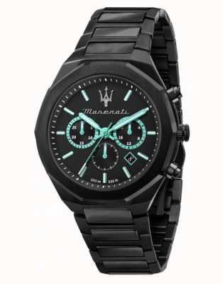 Maserati Stile Aqua Edition schwarz beschichtete Uhr R8873644001