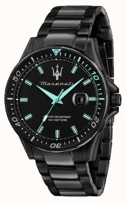 Maserati Sfida Aqua Edition schwarz beschichtete Uhr R8853144001