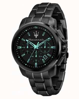 Maserati Successo Aqua Edition schwarz beschichtete Uhr R8873644003