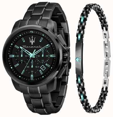 Maserati Aqua Edition Herren Geschenkset Uhr und Armband R8873644004