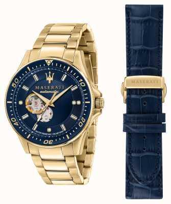 Maserati Sfida Diamanten vergoldete Uhr R8823140004
