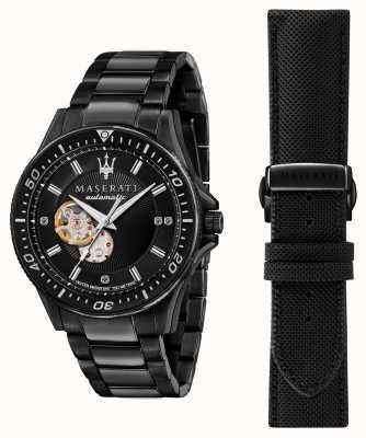 Maserati Sfida Diamanten schwarz beschichtete Uhr R8823140005