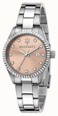 Maserati Competizione Damen-Zifferblatt mit rosa Kristallen R8853100509