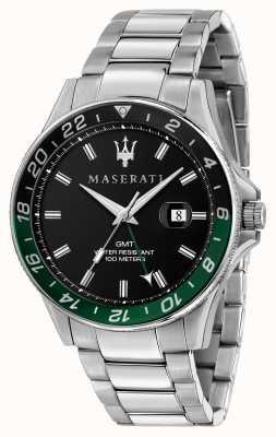 Maserati Sfida Herren zweifarbig schwarz/grün Lünette R8853140005