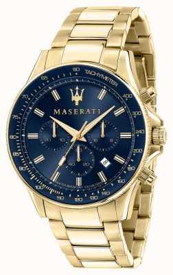 Maserati Sfida Herren gelb vergoldete Uhr R8873640008