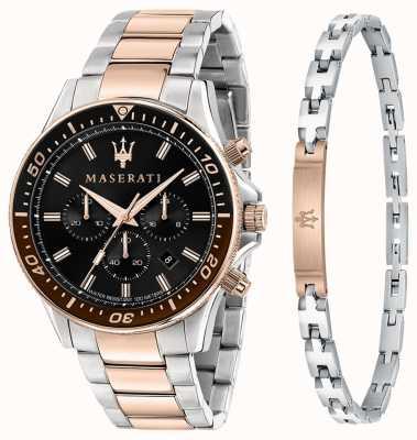 Maserati Sfida Herren Geschenkset Armband und Uhr R8873640010