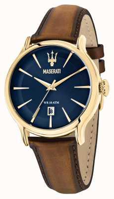Maserati Braunes Lederarmband für Herren von Epoca R8851118012