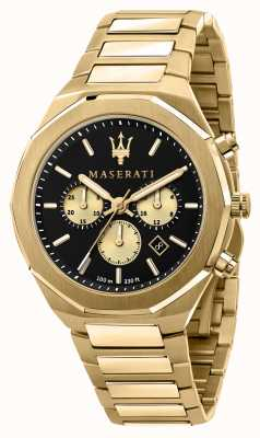Maserati Stile Chronograph Herren gelb vergoldet R8873642001