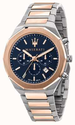 Maserati Stile Chronograph Herren zweifarbige Uhr R8873642002