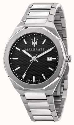 Maserati Herrenuhr im Stil 3h Daten mit schwarzem Zifferblatt R8853142003