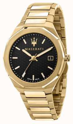 Maserati Herrenuhr im Stil 3h mit Daten vergoldet R8853142004