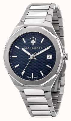 Maserati Herrenuhr im Stil 3h Daten mit blauem Zifferblatt R8853142006