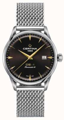 Certina Ds-1 Powermatic 80 Uhr mit braunem Zifferblatt C0298071129102