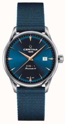 Certina Ds-1 Powermatic 80 Uhr mit blauem Zifferblatt C0298071104102