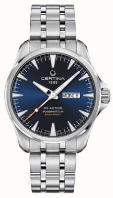 Certina DS Action Day-Date Powermatic 80 blaues Zifferblatt C0324301104100