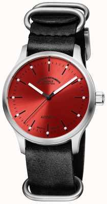 Muhle Glashutte Panova rot-schwarzes Lederarmband M1-40-78-LB
