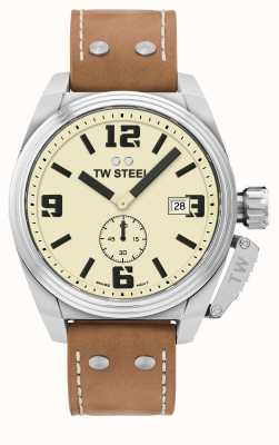 TW Steel Herren Kantine braunes Lederarmband TW1000