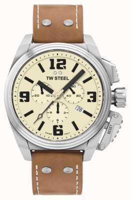 TW Steel Canteen Chronograph Cremefarbenes Zifferblatt TW1010