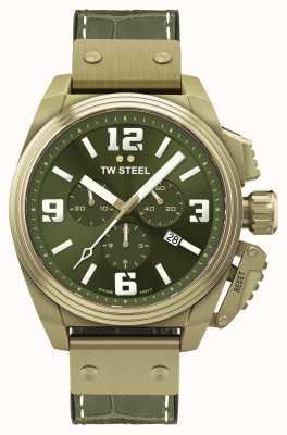 TW Steel Kantine Bronze PVD plattiertes grünes Zifferblatt TW1015