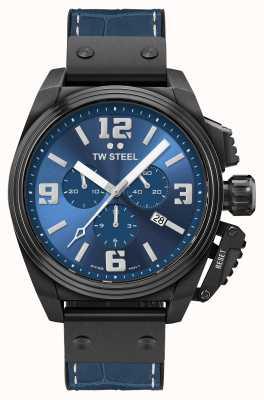 TW Steel Kantine schwarzes PVD-beschichtetes blaues Zifferblatt TW1016
