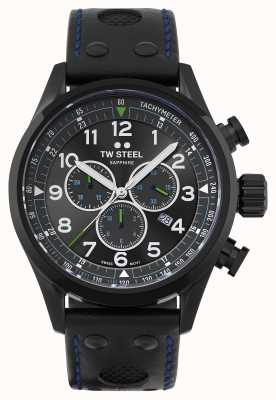 TW Steel | volante | petter solberg ausgabe | schwarzes Lederarmband | SVS306