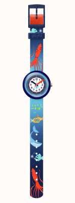 Flik Flak | meer la vie | Meeresschätze | blaues recyceltes Haustierband | FPNP086