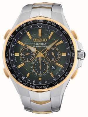 Seiko | Couture | Funksynchronisation Solar | grünes Zifferblatt | zweifarbiges Armband | SSG022P9
