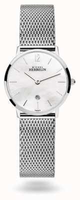 Michel Herbelin City Perlmutt Milanese Mesh Armband 16915/19B