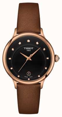 Tissot Odaci-t Zifferblatt mit schwarzem Diamantbesatz T1332103605600