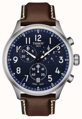 Tissot Chrono XL Vintage Uhr mit blauem Zifferblatt T1166171604200