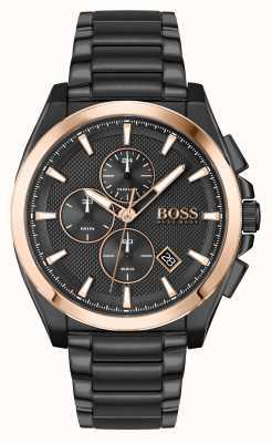 BOSS | Großmeister Sport Lux | schwarzes PVD-Armband | 1513885