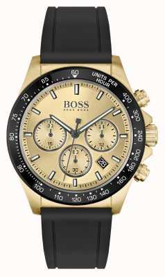 BOSS | hero sport lux | schwarzes Armband | goldenes PVD-Gehäuse | 1513874