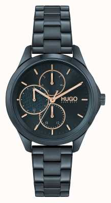 HUGO #furchtlos multi casual | blaues Zifferblatt | blaues IP-Stahlarmband 1540098