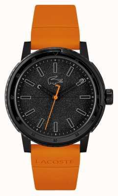Lacoste Challenger orangefarbenes Silikonarmband 2011095