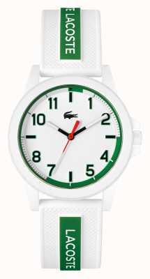 Lacoste Rider weiße und grüne Silikonarmbanduhr 2020140