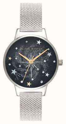 Olivia Burton Himmlisches Starburst-Silber-Mesh-Armband OB16GD85