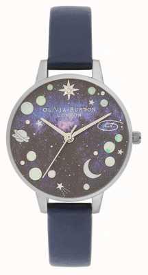Olivia Burton Celestial Planet blaues Lederarmband OB16GD82