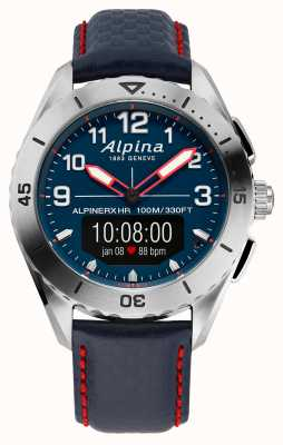 Alpina | alpinerx | Smartwatch | blaues Lederarmband | AL-284LNNR5SSAQ6L