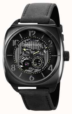 Briston Clubmaster Skelett schwarze PVD-Uhr 211042.SPB.SK.1.CH