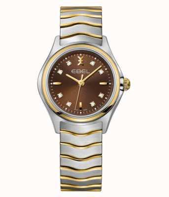 EBEL Wave zweifarbige Damenuhr mit Diamantbesatz 1216318
