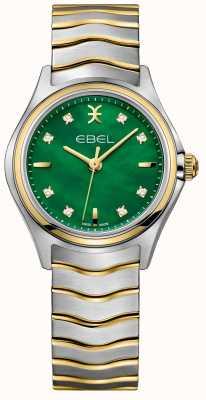 EBEL Wave Damen Zweifarbiges Diamantbesetztes grünes Perlmutt 1216440