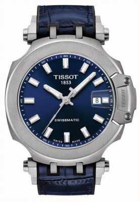 Tissot Swissmatic t-rennen | blaues Zifferblatt | blaues Lederarmband T1154071704100