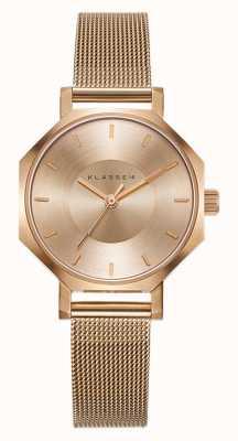 Klasse14 Okto Gold Milanese Mesh Armband 28mm OK17RG002S