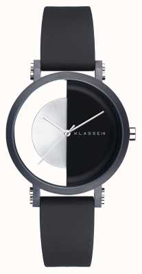Klasse14 Im Bogen schwarz 32mm schwarzes Silikonarmband IM18BK007W
