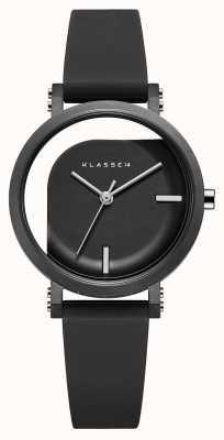 Klasse14 Unvollkommener Winkel 32mm schwarzes Silikonarmband WIM19BK011W