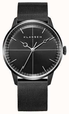 Klasse14 Disco volante 40mm schwarzes Milanese Mesh Armband WDI19BB001M