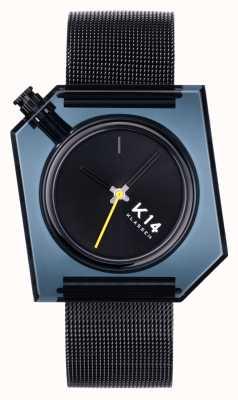 Klasse14 K14 dunkel 40mm schwarzes Milanese Mesh Armband WKF20BK001M
